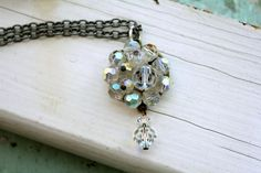 Crystal Necklace Bit of Bling Aurora Borealis Granny by belmonili @belmonili