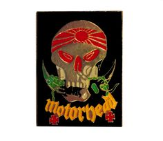 One rare vintage MOTORHEAD pin! Design for the 1983 Japan Tour. Excellent condition. Measures: approx 1 20+ years old, hard to find, vintage high-quality cloisonne lapel/pin. Beautiful die struck metal pin with colored glass enamel filling. Add inspiration to your handbag, tie,