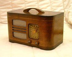 Old Antique Wood Detrola Vintage Tube Radio Restored Working Art Deco Table Top | eBay