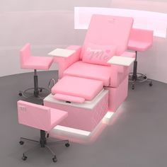 Nail Salon Decor, Beauty Salon Decor, Beauty Salon Interior, Beauty Salon Design, Salon Interior Design, Pedicure Chair, Manicure And Pedicure, Pink Pedicure, Nail Spa