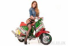 Wildcat Lambretta scooter girl