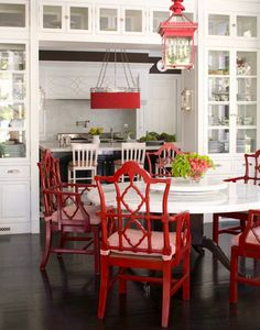 Need those fretwork chairs- Horchow