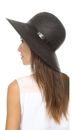 Rag & Bone | Wide Brim Beach Hat in black