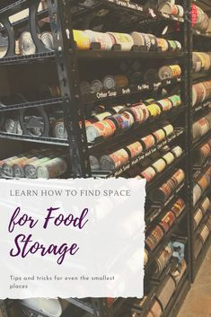 Learn how to find space for your emergency food supply. Where to store your sockpile and ideas for space saving emergency food storage.