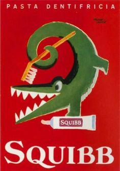Herbert Leupin and Squibb toothpaste.