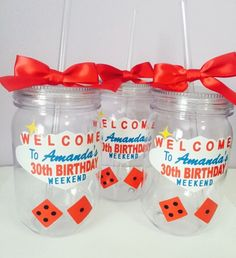 Las Vegas Theme Party Mason Jar/ Bachelorette Party /Birthday Party Personalized Mason Jar /Vegas Theme/Vegas Birthday Cup by PYdesigned on Etsy Make bets on how much is in it 30th Birthday Party Themes, Vegas Birthday, Birthday Cup, Birthday Weekend, Casino Theme Parties, 30th Party, Casino Party, 50th Birthday, Birthday Decorations