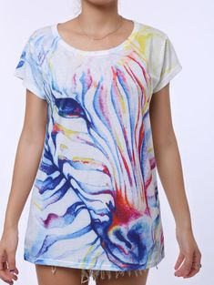 SHARE & Get it FREE | Casual Watercolor Print Scoop Neck Short Sleeve T-Shirt For WomenFor Fashion Lovers only:80,000+ Items • New Arrivals Daily • Affordable Casual to Chic for Every Occasion Join Sammydress: Get YOUR $50 NOW!