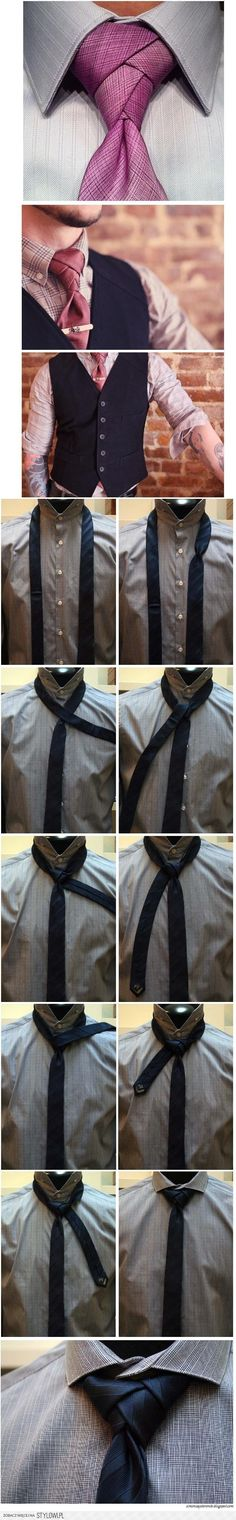 Necktie how-to.  I like the pink, but it isn't Future Husband's colour :/