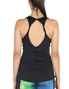 M, Blanc//Lilas icyzone D/ébardeur T-Shirt de Sport Femme Tops sans Manches Gilet Dos Ouvert Exercice Yoga Running T-Shirt