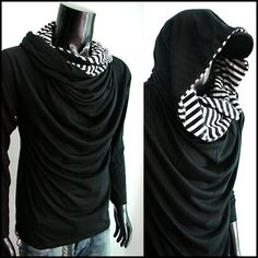 Cowl neck and lined hoodie. I MUST make this!