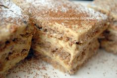 o prajitura fina si delicioasa pe care o recomand cu placere amtaorilor inebuniti dupa cafea si nu numai! crema fina si blatul ajung sa se c...