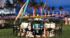 The Weddings Team at Dreams Villamagna in Riviera Nayarit, Mexico hosts the most beautiful nighttime wedding receptions!