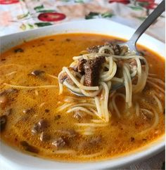 Sopa a la Minuta Italian Recipes, Beef Recipes, Soup Recipes, Cooking Recipes, Peruvian Cuisine, Peruvian Recipes, Savoury Dishes, Food Dishes, Comida Latina