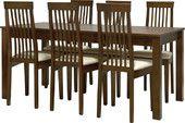Devy/Berlin ruokaryhmä neljälle, ruskea | Huonekalut Netistä Kotiisi | Uuttakotiin.fi Table, Furniture, Home Decor, Interior Design, Home Interior Design, Desk, Tabletop, Arredamento, Desks