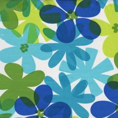 Custom-Made Valances,  Panels, Tiers. ~You Choose Size ~ Lined or Unlined ~ MOD Retro Tropical Flowers Floral Blue Green Lime by DesigningWindows on Etsy https://www.etsy.com/listing/266020864/custom-made-valances-panels-tiers-you
