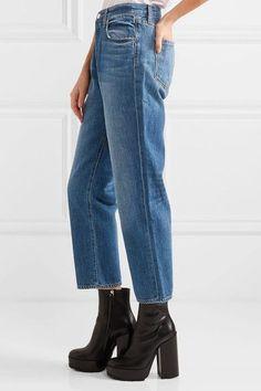 J Brand - Ivy Cropped High-rise Straight-leg Jeans - Mid denim - 30