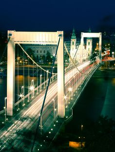 Erzsébet híd (Elisabeth Bridge / Elisabethbrücke / Pont Élisabeth) Budapest City, Elisabeth, Travel, Bridge, Viajes, Destinations, Traveling, Trips