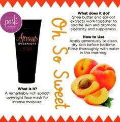 PERFECTLY POSH! Apricot Overnight Moisturizing Mask! Visit my website to order!  www.perfectlyposh.com/melissareed
