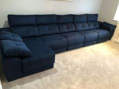 This modern sofa features electric recliners with adjustable headrests, storage under chaise and inside sofa arm provides additional practicality. Available in several sizes and configurations. Delivered to our client in Middlesex. Modern Sofa, Modern Bedroom, Contemporary Furniture, Recliners, Sofas, Leather Bed, Sofa Design, Electric, Arm