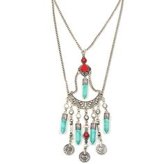 Eye Candy Los Angeles Native Necklace ($21) ❤ liked on Polyvore featuring jewelry, necklaces and silver