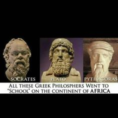Socrates, Plato, and Pythagoras.