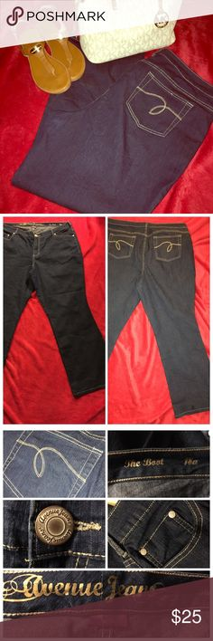 Weekend Wardrobe Perfect Avenue Boot Cut Jeans Practically brand new, nice dark wash, slimming average length boot cut jeans that have stretch by the avenue.  Weekend Wardrobe Host Pick Avenue Jeans Boot Cut