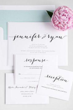 Rustic Wedding Invitation in Mint - Rustic, Unique Calligraphy Font - Mint Blue, Mint Green - Flowing Script Wedding Invitations von ShineInvitations auf Etsy https://www.etsy.com/de/listing/235695605/rustic-wedding-invitation-in-mint-rustic