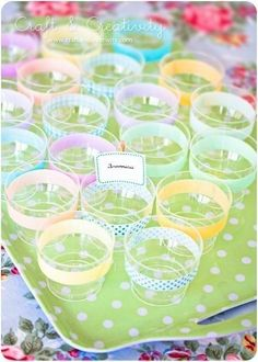 Decorate cups with washi tape
