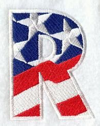 Machine Embroidery Designs at Embroidery Library! - Stars and Stripes Alphabet