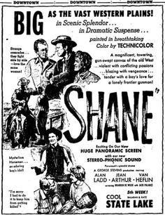 Shane(1953) ※6/25/1953,Chicago Tribune