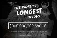 'Worlds longest invoice' draws attention to the plight of the unpaid #freelancers