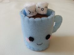 Felt Plushies | ... Chocolate Mug and Mallows Felt Plushie by *Thamalasca on deviantART