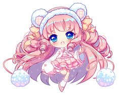 [+Video] Commission - Bunbun Chibi by Hyanna-Natsu on DeviantArt Cute Anime Chibi, Kawaii Chibi, Kawaii Art, Kawaii Anime Girl, Kawaii Girl Drawings, Cute Animal Drawings Kawaii, Cute Drawings, Neko, Anime Kunst