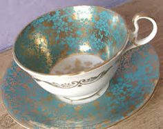 turquoise tea cup and saucer - Google Search