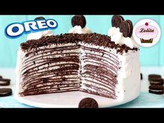 Riquisima tarta de crepes de Oreo. ¡Sin horno!