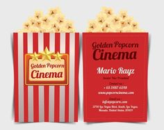 This might be just the right business card if you work in a cinema!