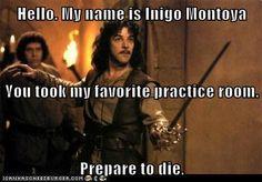 practice room drama.