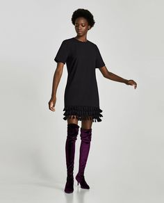 ZARA - WOMAN - MINI DRESS WITH POMPOMS