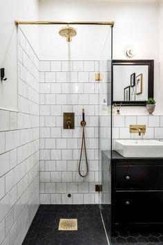 〚 Spacious two-bedroom Scandinavian apartment sqm) 〛 ◾ Photos ◾Ideas◾ Design Upstairs Bathrooms, Downstairs Bathroom, Bathroom Renos, Small Bathrooms, Small Full Bathroom, Bathroom Ideas, Bathroom Design Small, Bathroom Interior Design, Modern Bathroom Tile