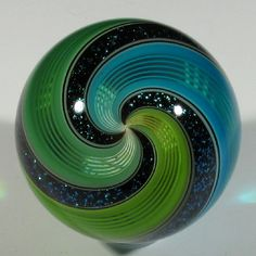"""Hot House Glass Dichroic Fine Liner Marble 1 31"""" 33mm 40 