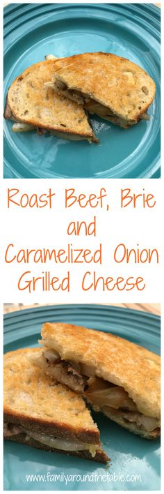 It's National Grilled Cheese Month! In honor of the occasion I made a roast beef, brie and caramelized onion grilled cheese. Grilled Sandwich, Soup And Sandwich, Perfect Grilled Cheese, Crockpot Recipes, Cooking Recipes, Chicken Wrap Recipes, Cold Sandwiches, Baked Apples, Roast Beef
