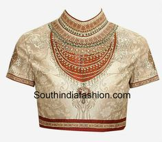 Designer Clothes, Shoes & Bags for Women Emerald Green Top, Sari Blouse Designs, Green Blouse, Green Tops, Printed Blouse, Chiffon Tops, Saree, Blouses, Shopping