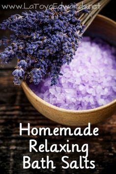 Turn your bathroom into a spa with this 2 ingredient recipe for homemade bath salts.
