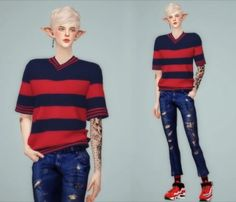Melvin Top by MeeyouX for The Sims 4