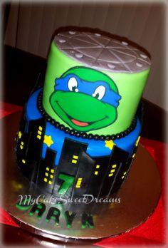 Teenage Mutant Ninja Turtles - Leonardo Cake - Cake by My Cake Sweet Dreams - CakesDecor