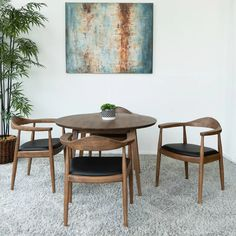 Dining Room Table Chairs, Leather Dining Room Chairs, Wood Arm Chair, Solid Wood Dining Chairs, Upholstered Dining Chairs, Stylish Chairs, Table Arrangements, Metal Wall Decor, Living Room Designs