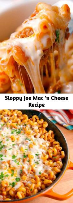 Meat Recipes, Crockpot Recipes, Dinner Recipes, Cooking Recipes, Healthy Recipes, Dinner Dishes, Pasta Dishes, Food Dishes, Sloppy Joe Mac And Cheese Recipe
