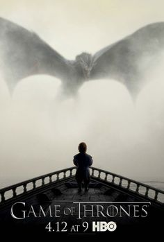 Game of Thrones Tyrion and Dragon Poster #gameofthrones