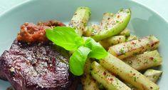 Biefstuk met koolrabifriet, 4 p