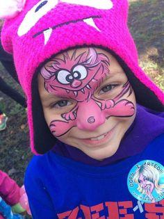 Margi Kanter    silly monster Monster Face Painting, Face Painting For Boys, Face Painting Designs, Monster Party, Balloon Painting, Body Painting, Halloween Jokes, Facepaint Halloween, Cheek Art